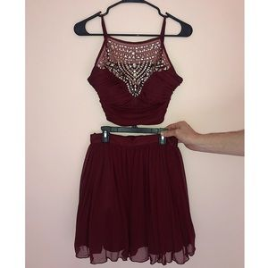 Burgundy Homecoming/Prom Dress